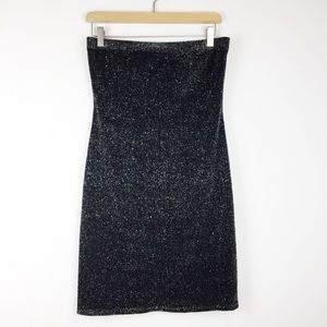 Vintage 90s Y2K sparkly tube dress bodycon bandage